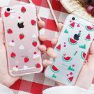 韓國 綜合水果 透明軟殼 手機殼│iPhone 5S SE 6 6S 7 8 Plus X XS MAX XR LG G5 G6 G7 V20 V30 V35 V40│z7361