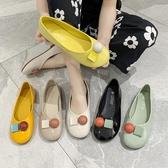 豆豆鞋女夏季新款百搭軟底平底單鞋漆皮亮面淺口女鞋【快速出貨八折下殺】