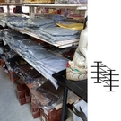 雙面四層鐵展示架 {二手品}須自取不提供配送(物品在台北市)