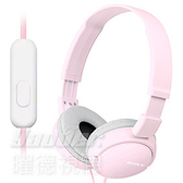 預購【曜德】SONY MDR-ZX110AP 粉色 簡約摺疊 耳罩式耳機 線控通話