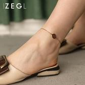 韓版十二星座腳鍊女 簡約森系閨蜜姐妹鍊個性潮時尚鈦鋼腳環飾品