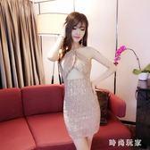 中大尺碼 夏季新款服裝夜店女裝性感掛脖露背包臀收腰洋裝潮 ZB255『時尚玩家』