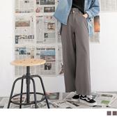 《BA4619》高含棉褲頭皺褶質感寬褲 OrangeBear