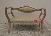 [紅蘋果傢俱] ML5009 新古典 小貴妃椅 小沙發椅 休閒椅 穿鞋凳 造型椅 洽談椅  金箔 銀箔