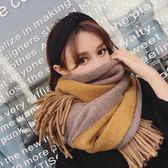 圍巾女冬季韓版百搭長款加厚雙面披肩兩用軟妹學生針織毛線圍脖Ifashion