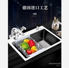 廚房水槽 304不銹鋼水槽廚房洗菜盆大單槽洗碗盆雙槽加厚手工水槽套裝