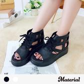 涼鞋 魚口綁帶厚底涼鞋 MA女鞋 T0267