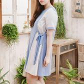 Poly Lulu 俐落不對稱剪裁側綁帶小洋裝-藍【92270315】