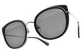 PAUL HUEMAN 太陽眼鏡 PHS1117A 02 (銀黑-灰鏡片) 韓系繽紛色貓眼款 墨鏡 #金橘眼鏡