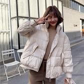 羽絨夾克-白鴨絨-短版寬鬆立領加厚女外套3色73zc23【時尚巴黎】