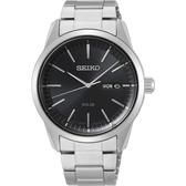 SEIKO精工 CS 太陽能SOLAR 手錶-黑x銀/40mm V158-0BE0D(SNE527P1)