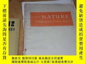 二手書博民逛書店nature罕見a weekly journal of scie