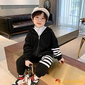 兒童加絨套裝童裝冬新款韓版小孩保暖運動寶寶衛衣男童加厚兩件套【小獅子】