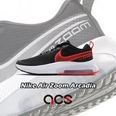Nike 慢跑鞋 Air Zoom Arcadia GS 黑 紅 女鞋 大童鞋 氣墊 運動鞋 【ACS】 CK0715-003