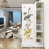 客廳玄關隔斷屏風隔斷移動屏風折屏雕花鏤空隔斷歐式簡約現代折疊QM『艾麗花園』