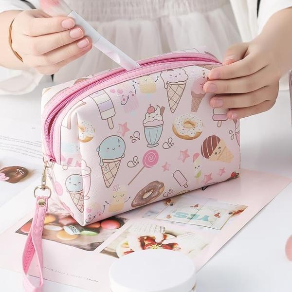 國收納袋便攜大容量女化妝包可愛日系韓版【奇妙商鋪】