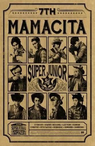 SUPER JUNIOR 第七張正規專輯MAMACITA 台壓B版 CD(購潮8)