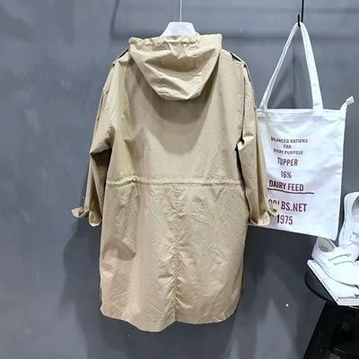 風衣外套-連帽時尚率性中長版寬鬆女大衣73oj7【巴黎精品】