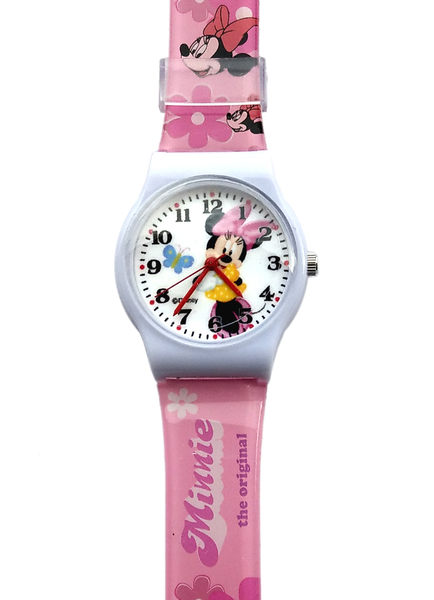 【卡漫城】 米妮 膠錶 蝴蝶 ㊣版 米奇 女朋友 Minnie 米老鼠 卡通錶 手錶 女錶 兒童錶 迪士尼