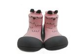 韓國 Attipas 快樂腳襪型學步鞋-粉色貓頭鷹