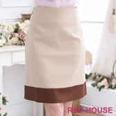 【RED HOUSE-蕾赫斯】-細緻格紋合身裙(白色) 零碼出清,滿499元才出貨
