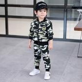 男童套裝 新品秋冬裝男童寶寶加絨迷彩套裝1-2-3周歲嬰幼兒童裝兩件套4【快速出貨八五折】