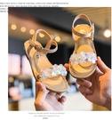 女童涼鞋 真皮涼鞋 花童鞋 魔鬼氈 舒適涼鞋 氣質圓頭 質感涼鞋 柔軟厚底 防滑底 J6845#粉色