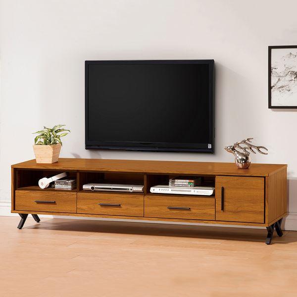 【森可家居】安德里6尺電視櫃 8ZX603-4 長櫃 北歐工業風 木紋質感