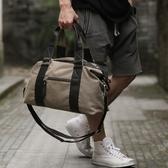 復古大包旅行包行李包時尚潮流男包帆布包男士單肩包休閑手提包男