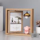 北歐鐵藝相框擺臺木質雙面相架簡約現代照片擺件【小檸檬3C】