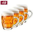 帶把啤酒杯扎啤杯玻璃水杯無鉛500ML青蘋果加厚大菠蘿杯6只裝 年尾牙提前購