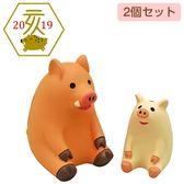 Hamee 日本 DECOLE concombre 歡喜迎豬年 療癒公仔擺飾 (山豬親子) 586-922449