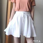 夏季新款韓版防走光百搭純色A字裙高腰顯瘦半身裙短裙學生女  提拉米蘇
