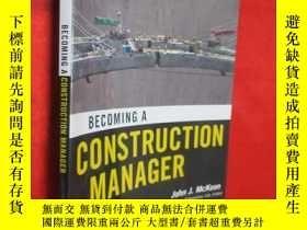 二手書博民逛書店Becoming罕見a Construction Manager