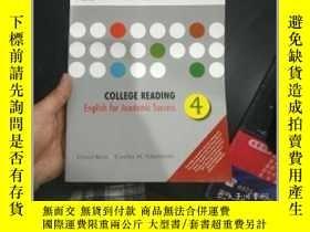 二手書博民逛書店College罕見Reading 4: English for Academic Success【基本 】Y1