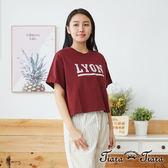 【Tiara Tiara】百貨同步aw LYON純棉五分袖上衣(白/藍/紅) 漢神獨家