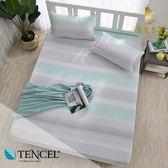 天絲床包二件組 單人3.5x6.2尺 沿溪 100%頂級天絲 萊賽爾 附正天絲吊牌 BEST寢飾
