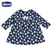 chicco-TO BE Baby-碎花長袖洋裝-藍