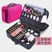 大號多層收納化妝箱包專業化妝師跟妝手提美容工具包紋繡箱大容量 生活樂事館