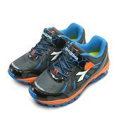 LIKA夢 DIADORA 22cm-24.5cm 迪亞多那 3E寬楦越野慢跑鞋 戶外探險系列 黑藍橘 3978 大童