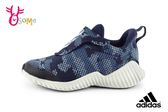 adidas FortaRun AC K 慢跑鞋 男童 透氣 迷彩 運動鞋 Q9307#藍色◆OSOME奧森童鞋