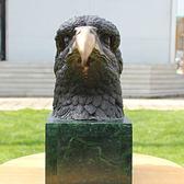 中鷹頭 銅工藝品 青銅雕塑像 擺設