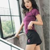 運動服 運動套裝女夏新款時尚短袖短褲跑步健身瑜伽服顯瘦休閒兩件套 城市科技