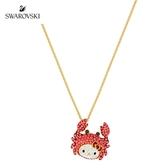 施華洛世奇 Hello Kitty Crab 金色凱蒂貓螃蟹項鏈
