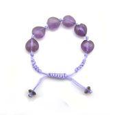 紫晶心中國結手環
