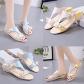 2020夏涼拖鞋女韓版平跟防滑孕婦鞋時尚外穿波西米亞涼鞋一字拖鞋