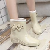 春下雨鞋水鞋女防水膠鞋女士中筒成人雨靴防滑時尚學生套鞋韓版『韓女王』