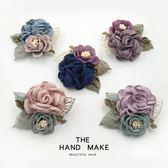 韓國簡約胸花布藝花朵襯衫西裝大氣質別針扣