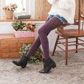 羊駝絨純色保暖褲襪絲襪(紫色)