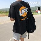 短T 正韓 潮流 LIFE 印花 落肩短袖t恤 男女可穿【PAA238】現貨+預購 Doppler